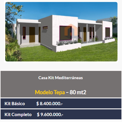 Kit mediterranea 80 mt2